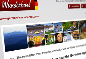 German travel newsletter